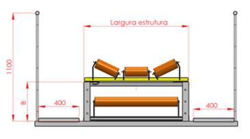 Desenho técnico do transportador de correia